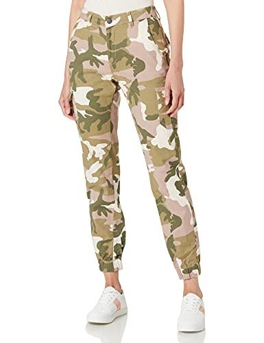 Urban Classics Damen Ladies High Waist Cargo Pants Hose, duskrose camo, 31