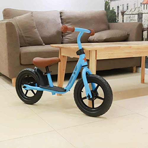 JOYSTAR 12 inch Balance Bike for 2 3 4 5 Year Old Boys & Girls, Child Glider Bicycle Without Pedal, Push Bike for Children, Blue
