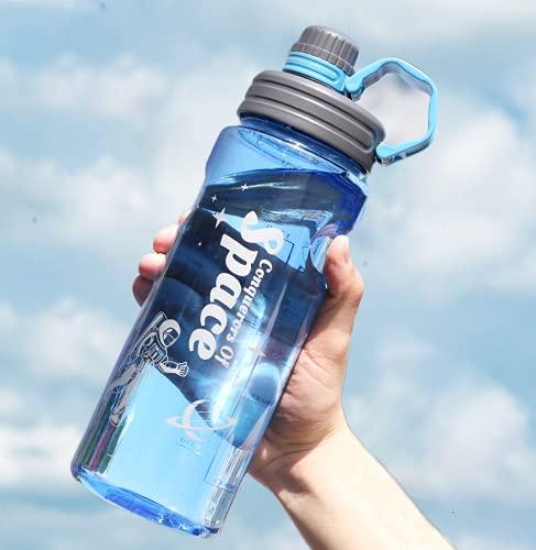 Bottiglia Acqua,Borraccia Sportiva 1.5 litri,boraccia,Casa, Ufficio,Borraccia in plastica per Sport all'Aria Aperta Borracce a Prova di Perdite Senza BPA,Bottiglia con filtro e indicatore millilitro,