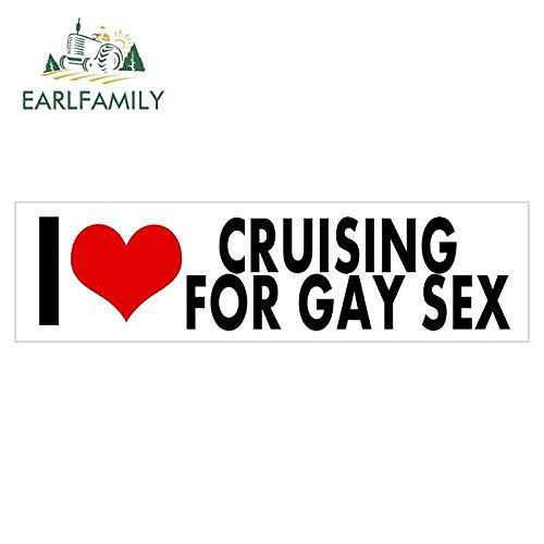 A/X 13 cm x 3,1 cm für I Love Cruising für Homosexuell Sex Zeichen Auto Aufkleber Vinyl JDM RV Van 3D DIY Feinaufkleber JDM Vinyl Car Wrap
