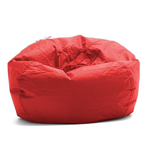 Big Joe Classic 98 Bean Bag Chair, 33'L x 33'W x 20'H, Flaming Red