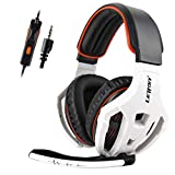 LETTON Gaming Headset for PS4, Xbox One, PC Headphones with Mic Noise Cancelling Volume Control Stereo Over Ear Headphone