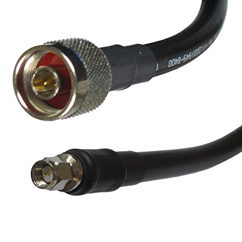Times Microwave 400-n-SMA-25 LMR-400 Antenna Line Coaxial Cable with N Male & Straight SMA Male Connectors