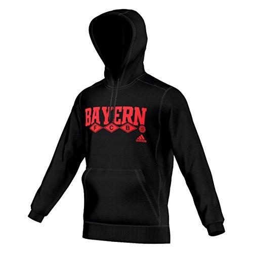 adidas 2015-2016 Bayern Munich Cotton Hoody (Black)
