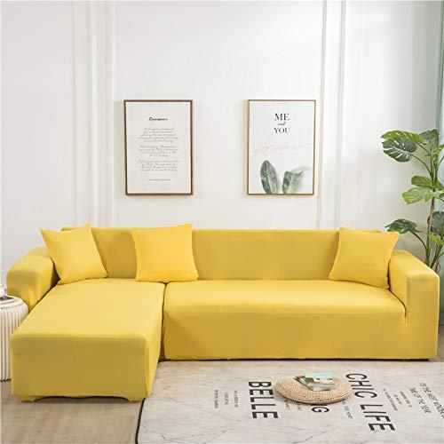 ASCV Funda de sofá de Color sólido Funda de sofá Simple Funda de sofá Antideslizante Sofá en Forma de L Funda de sofá Lavable Funda de sofá a Prueba de Polvo A4 4 plazas