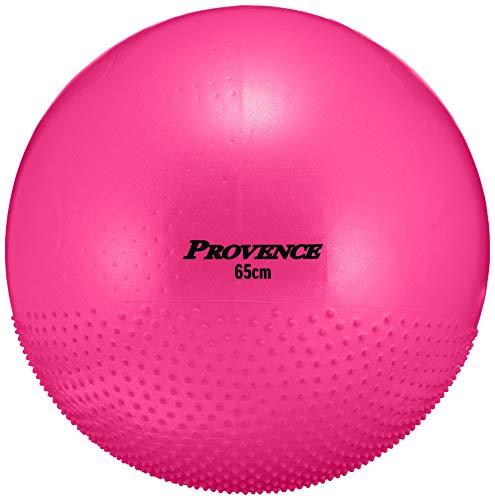 PROVENCE(プロヴァンス) アンチバースト ヨガボール バランスボール エクササイズ ピラティス ポンプ付き 65�p ピンク PV-60 ピンク