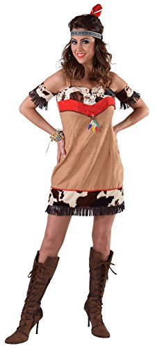 M216109-XXL - Disfraz de indio para mujer (corto, talla XXL)