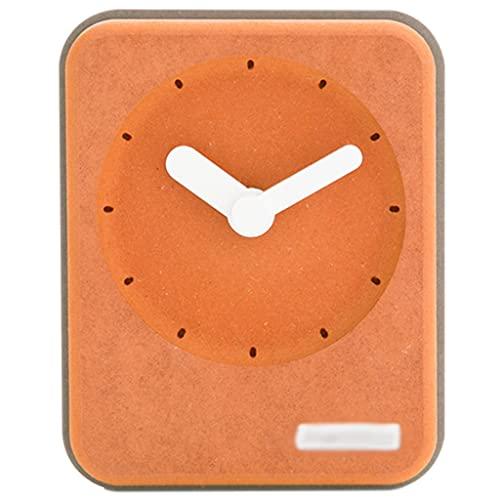Wall Clocks Reloj Analógico De Mesa Funciona con Pilas con Movimiento De Barrido Silencioso Relojes De Escritorio Rectangulares para Repisa Mesita De Noche Oficina O Dormitorios