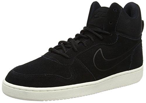 Nike Herren Court Borough Mid Premium Sneaker, Schwarz Black Black Sail, 44.5 EU