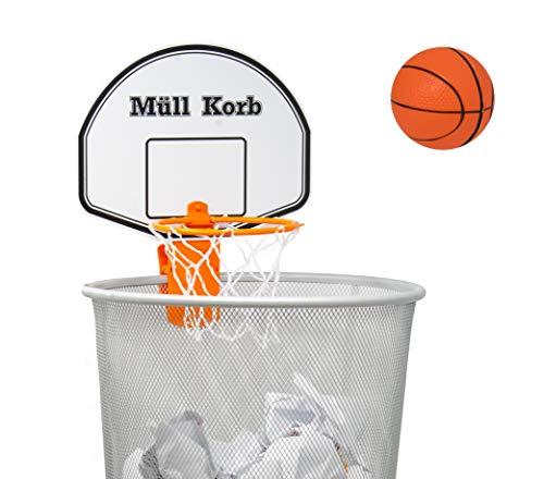 KrockaZone - Mini Basketballkorb für den Mülleimer/Papierkorb mit kleinem Ball - Spaß fürs Zimmer/ Büro/ Zuhause/ Kinder/ Sport/ Spielzeug