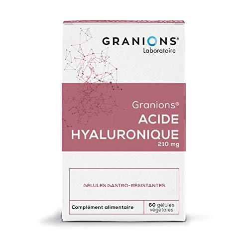 GRANIONS Acide Hyaluronique - 60 Gélules Végétales gastro-Résistantes = 30 Jours - Acide Hyaluronique - Beauté de La Peau - Laboratoire des Granions - Marque Française