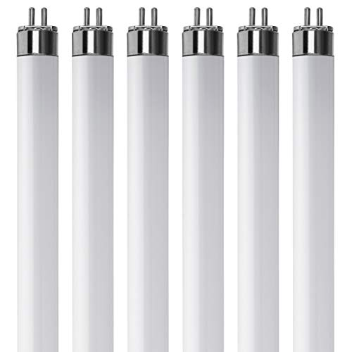 (Pack Of 6) F13T5/WW - T5 Fluorescent 3000K Warm White - 13 Watt - 21 Super Long Life Light Bulbs
