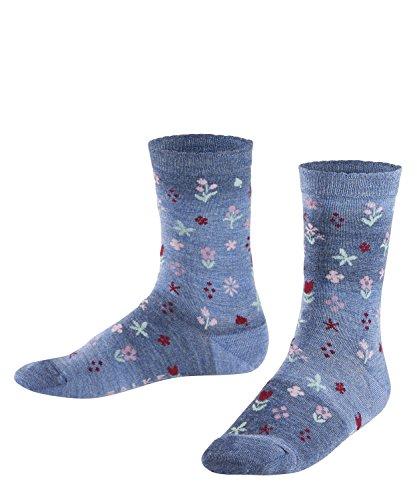 Falke Kinder Socken Denim Flower, Kobalt, 31-34, 12137