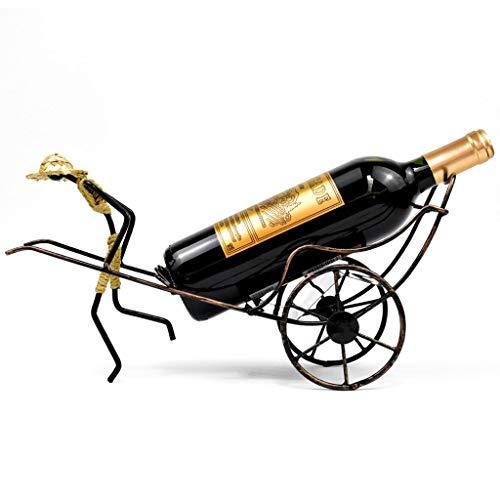 CHINESS Estante para Vinos, Estante para Botellas De Metal para Manualidades, Estante para Copas De Vino para Colgar, Puede Colgar 1 Taza, para Bar Cocina, 38x13x20cm, Bronce