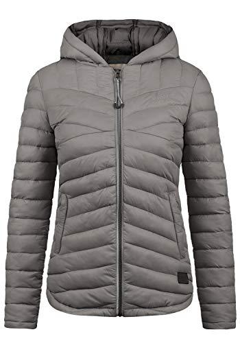 DESIRES Quella Damen Steppjacke Übergangsjacke Jacke Mit Kapuze, Größe:XL, Farbe:Castlerock (9486)