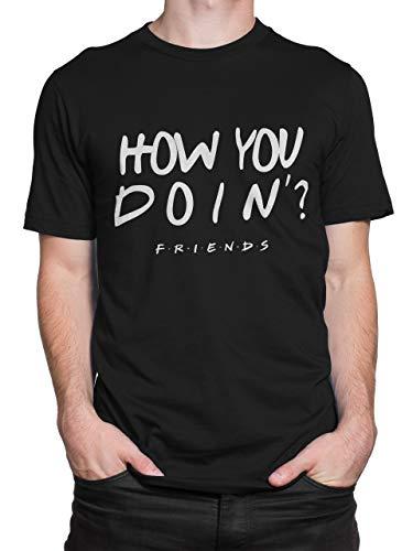 Friends Camiseta para Hombre Negro Talla Large