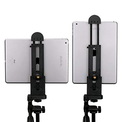 Ulanzi タブレット三脚マウントアダプタ、iPadエアプロ、マイクロソフトサーフェス、タブレット用の柔軟な...