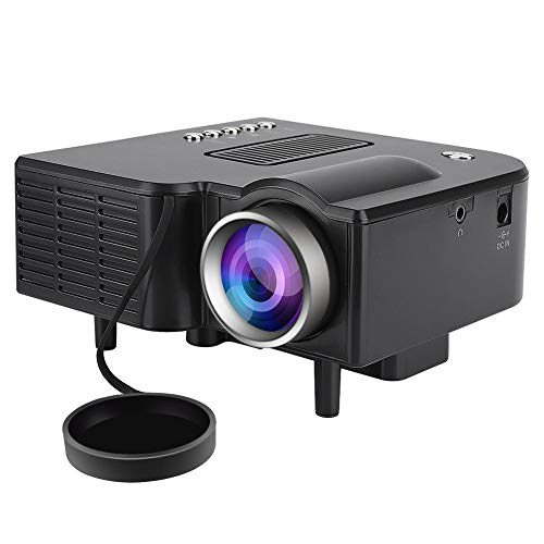 Bewinner Video Beamer Mini LED-Projektor 1080P Tragbarer LCD-Beamer 400 ANSI-Lumen Full-HD Projektor mit Fernbedienung Support PC Laptop HDMI/VGA/AV/USB/SD-Eingang für Heimkino
