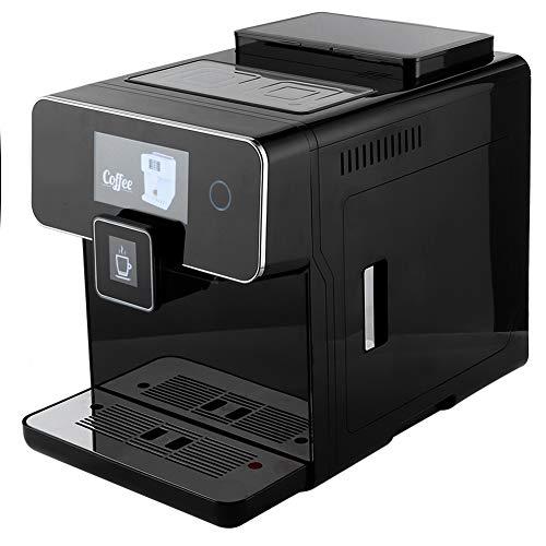 W Pełni Automatyczny Ekspres do Kawy Espresso, Komercyjny Ekspres do Kawy Z Ekranem Dotykowym Pompa Ciśnieniowa 19 BAR Do Cappuccino, Latte, Cafe Americano, Gorącej Wody, Spienionego Mleka(wtyczka ue)