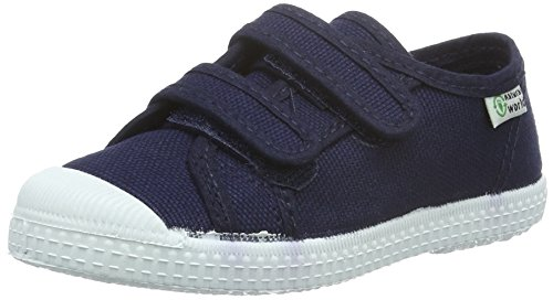 Natural World Mädchen Basquet Doble Velcro Paris Sneakers, Blau (Marino 77), 32 EU
