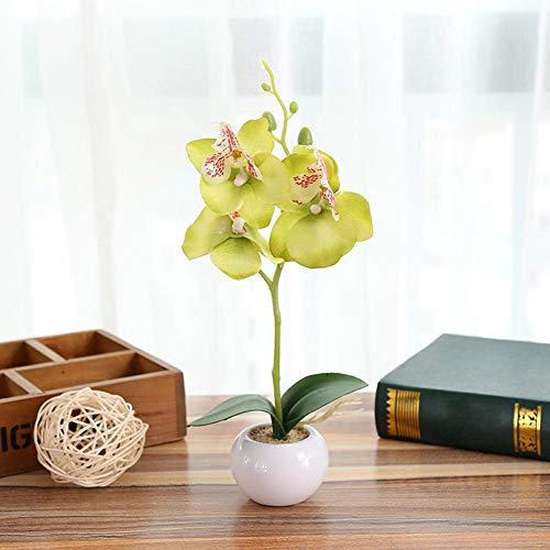 Triple Künstliche Kunststoff Orchidee Seidenblume Strauß Zuhause Mini Phalaenopsis Simulation Pflanzen Party Dekoration Hochzeit