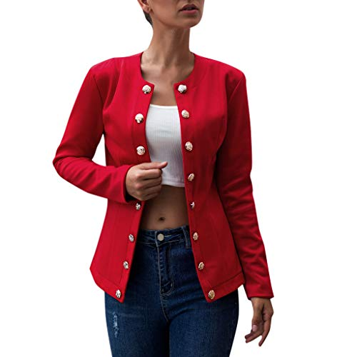 Find Discount NANTE Top Loose Women's Blouse Double-Breasted Blazer Long Sleeve Jacket Ladies Office...