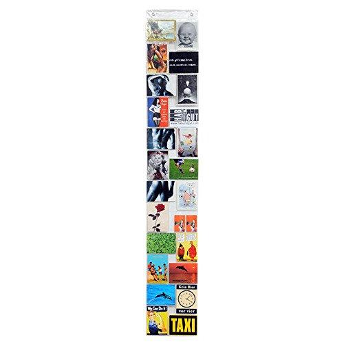 HAB & GUT -DV001- Tenda portafoto con 24 taschei, Trasparente 15 x10,5 cm 164 x 26 cm