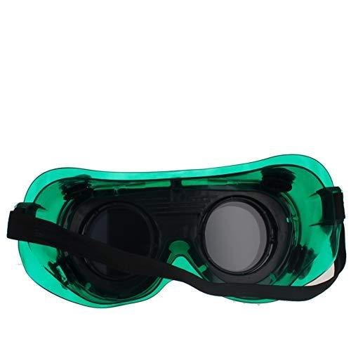 Flip Up Goggles 1Pcs Gafas de protección para los ojos Uso para soldar Soldadura Bueno para Steampunk Traje Gafas de seguridad