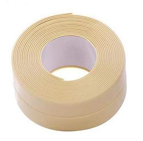 kengbi Fácil de decorar popular duradero papeles pintados cocina DIY autoadhesivo papel pintado borde cinta impermeable blanco sellado sellado tira mosaico PVC decoración de pared etiqueta
