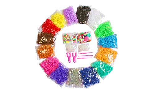 Wakestar Loom Rubber Bands Refill Kit-Assorted Colors Loom Bands(6000+) and More DIY Arts Crafts Tools for Age 5 6 7 8 Year Old Gilrs Boys Christmas Birthday Gift