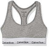 Calvin Klein Women's Plus Size Modern Cotton Bralette, Grey Heather, 1X
