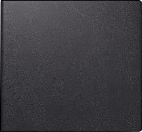 BRUNNEN 1076222902 Buchkalender Quadratkalender klein, 2 Seiten = 1 Woche, 162 x 150 mm, Kunststoffhülle schwarz, mit Kalendarium 2022 und Notizblock