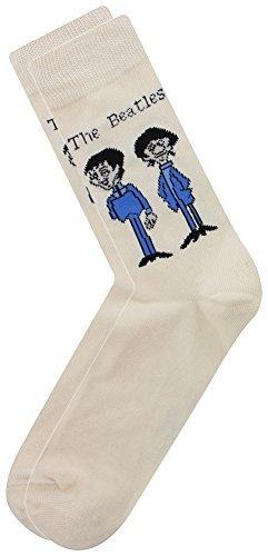 The Beatles - Group Standing Logo Socks [Cream]