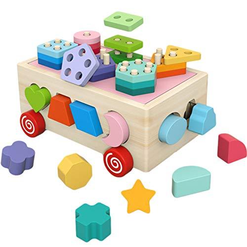 Cubos de clasificación de Formas, Cubos de Madera para Actividades para bebés y niños pequeños, Juguetes para el Desarrollo | Habilidades motoras, Regalos para niños o niñas