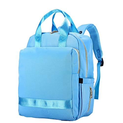 Multifunktionale große Wickeltasche Rucksack Tasche, wasserdichte Reisetasche, langlebig geeignet für Mama zu gehen (Farbe : Blau)