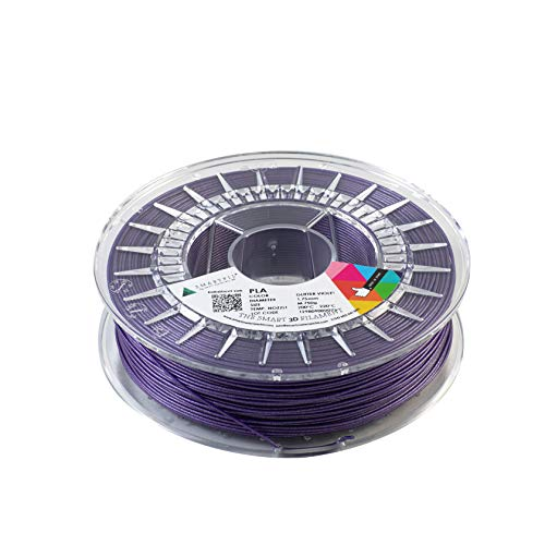 Smartfil PLA, 1.75mm, Glitter Violet, 750g Filamento para Impresión 3D de Smart Materials 3D