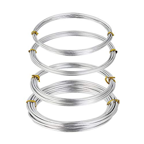 Floristik UVM. Creacraft Aluminium Schmuckdraht Basteln Modellieren Gold, 2 mm