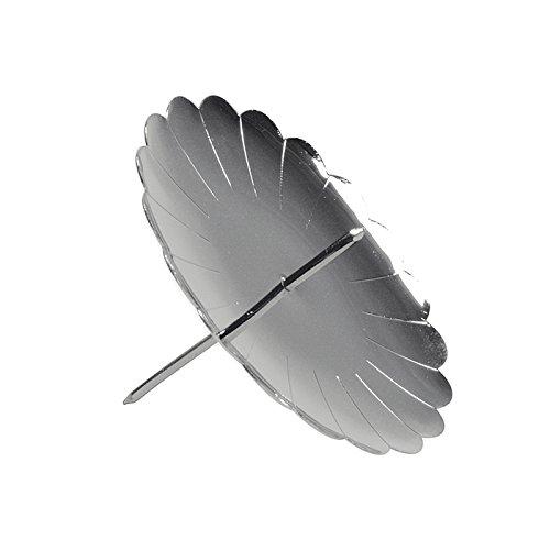 Riffelmacher 10717 - Adventskerzenhalter silber, Durchmesser 7,5 cm, 4 Stück im Beutel, Adventskranz, Weihnachten, Dekoration, Stecker, Gesteck