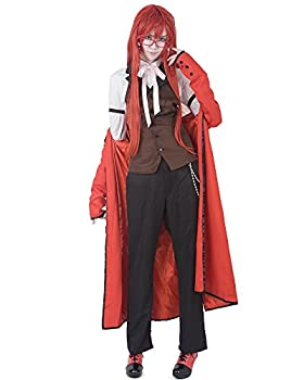 miccostumes Men s Grell Sutcliff Cosplay Costume Large Red