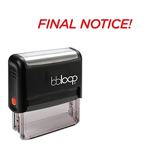 Final Notice! w/Italic Round Style Font and Design Self-Inking Rubber Stamp