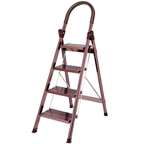 SZQ-Vouwtrappen Aluminiumlegering Opvouwbare Ladder, verloopt in vier stappen ladder Kruk Company/banketbakkerij Trappen/twee kleuren/Ladders Werken op hoogte Multifunctionele ladders