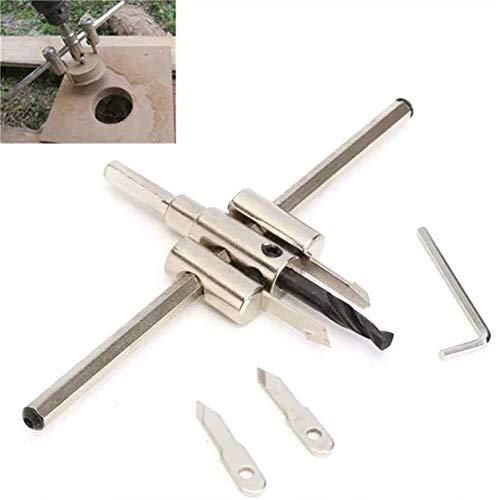 YUQIYU Perforar 40-300mm ajustable Círculo agujero consideró Broca de herramientas de bricolaje Kit de cortador de madera de metal accesorios del taladro