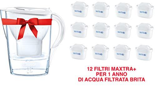 BRITA Marella Set mit 12 Filtern MAXTRA+ Wasserfilter 2.4l weiß