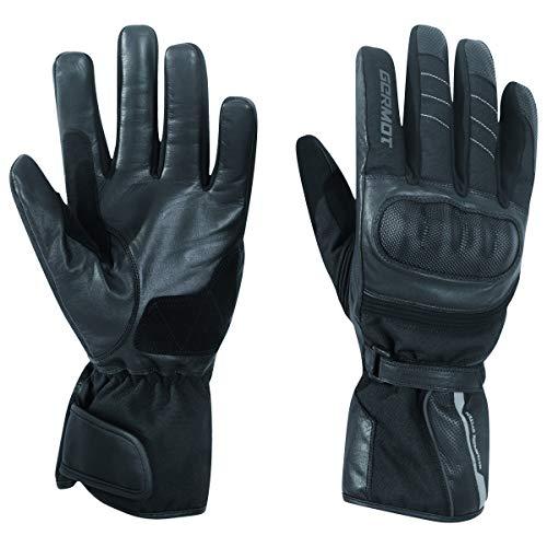 Germot All Season Motorrad-Handschuh Jacksonville Pro, Wind- und wasserdicht, Leder, schwarz, 7