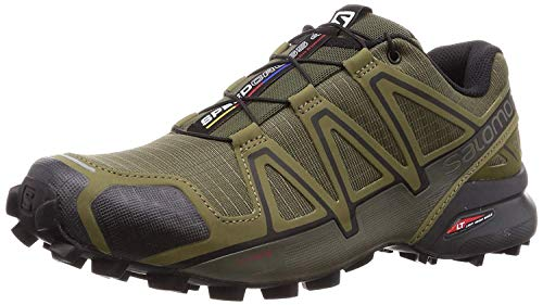 Salomon Men's Speedcross 4 Trail Running Shoes, Grape Leaf/Burnt Olive/Black, 10.5 US