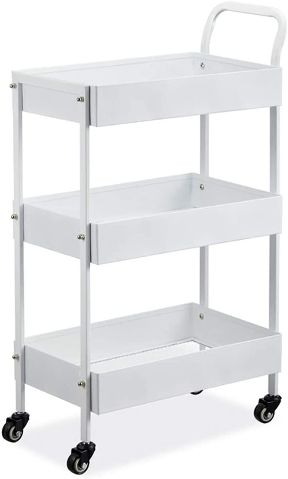 Deluxe Ma DONG YD Miami Mall 3-Layer Trolley,Removable Metal Anti-Kitche Rolling