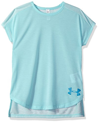 Under Armour Mädchen Threadborne Play Up T-Shirt, Mädchen, Blue Infinity (942)/Blue Shift, Youth X-Large