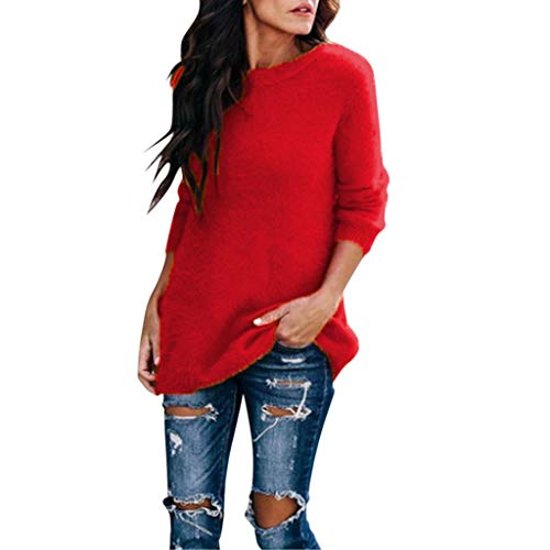 Women Velvet Pullover Ladies Plus Size Arctic Velvet Solid Color Round Neck Long Sleeve Sweatshirt Blouse