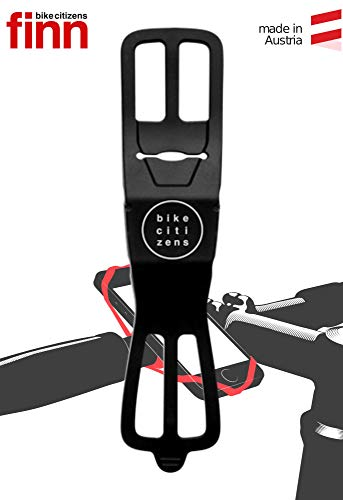 Bike Citizens Finn - Die universelle Smartphone Halterung für jedes Rad und jedes Handy! Mit Rad Navigation - Handy Halter für das Fahrrad, MTB oder Rennrad (Schwarz)