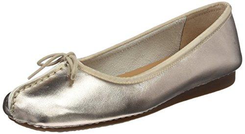 Clarks Damen Mokassin Ballerinas, Gold (Gold Metallic), 40 EU